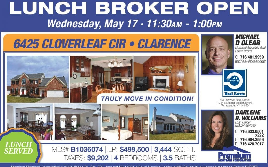 Broker's Open House – See a Truly Move-In-Ready Clarence Home