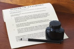 Photo of Power of Attorney Contract
